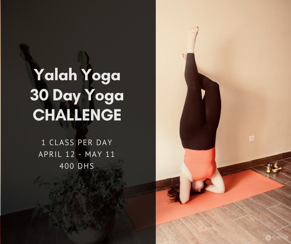 Challenge 30 jours Yoga chez Yalah Yoga